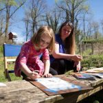 child and parent at Plein Air Painting workshop