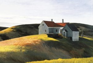 Edward Hopper, Mrs. Scott's House, 1932, oil on canvas. Collection of the Maier Museum of Art at Randolph College.